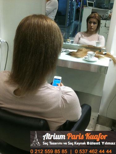 keratin saç kaynak uygulaması